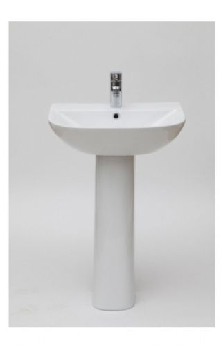 Elite Bathroom Basin & Pedestal 550mm, 1 Tap Hole - F60S